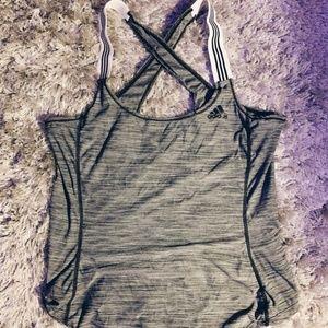 Adidas Gray Workout Tank